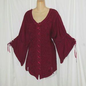Holy Clothing Gothic Renaissance Blouse Size 3X